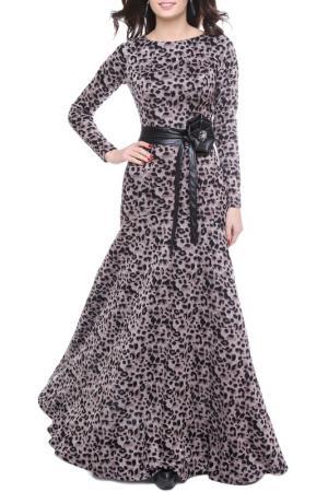 Платье Olivegrey. Цвет: леопардовый