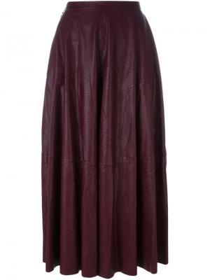 Плиссированная юбка Mm6 Maison Margiela. Цвет: розовый и фиолетовый