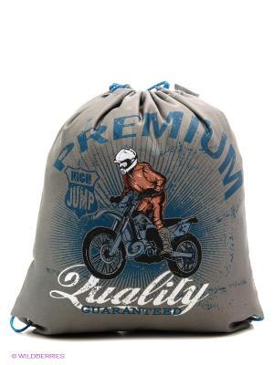 Мешок для обуви Мотоциклист High Jump Action!. Цвет: серый