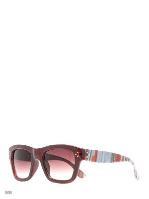 Солнцезащитные очки ALESE. Цвет: бордовый