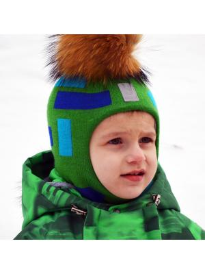 Шлем для мальчика STELLA'S KIDS. Цвет: зеленый