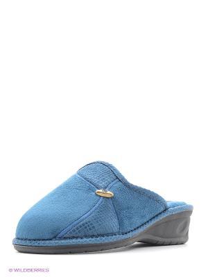 Итальянские тапочки Spesita. Цвет: синий, голубой