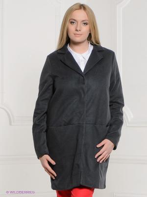Пальто La Reine Blanche. Цвет: темно-серый