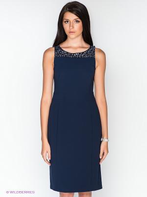 Платье Vera Mont. Цвет: темно-синий