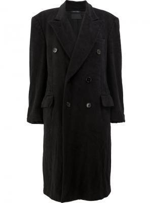 Двубортное пальто Blackyoto. Цвет: чёрный
