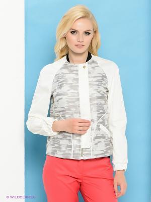 Куртка Trussardi. Цвет: молочный, серый