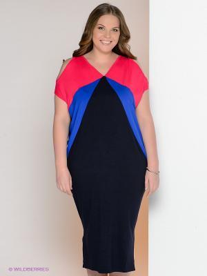 Платье МадаМ Т. Цвет: черный, розовый, синий