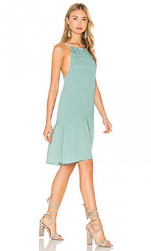 Мини платье без рукавов Hoss Intropia. Цвет: зеленый