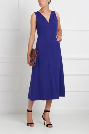 Шерстяное платье Chapurin. Цвет: синий