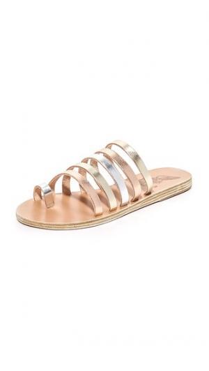 Сандалии Niki Ancient Greek Sandals. Цвет: розовый металл/серебристый/платиновый