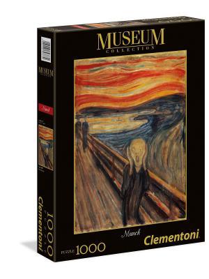 Пазл серии Музей. Эдвард Мунк Крик. 1000 элементов. Clementoni. Цвет: черный, коричневый, малиновый