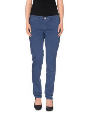 Повседневные брюки 0/ZERO CONSTRUCTION. Цвет: грифельно-синий