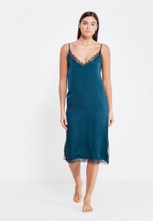 Сорочка ночная womensecret women'secret. Цвет: бирюзовый