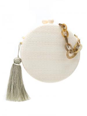 Round tassel clutch Serpui. Цвет: белый