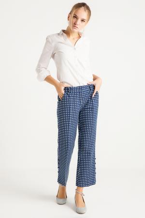 Расклешенные брюки с карманами BGN. Цвет: темно-синий