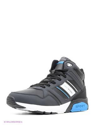 Кроссовки STROBBS. Цвет: черный, темно-серый, голубой