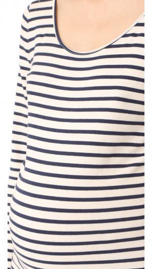 Maternity Stripe Long Sleeve Dress MONROW