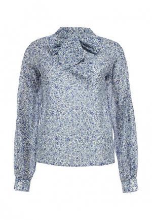 Блуза Tutto Bene. Цвет: голубой