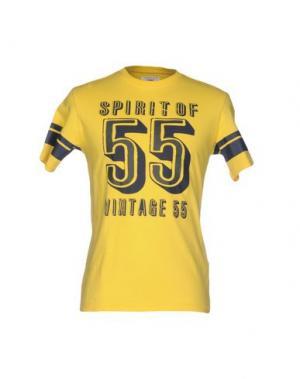 Футболка VINTAGE 55. Цвет: желтый