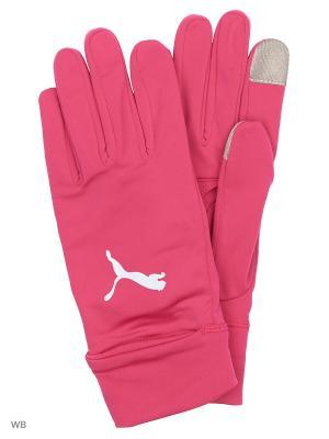 Перчатки PR Performance Gloves PUMA. Цвет: малиновый