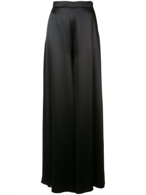 Flared trousers Brandon Maxwell. Цвет: чёрный