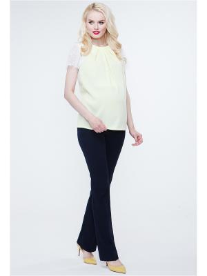 Блузка TUTTA MAMA. Цвет: желтый, белый