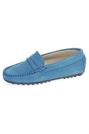 Мокасины TNY. Цвет: голубой