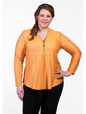 Блузка Queen Size. Цвет: желтый