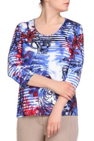 Блуза HELENA VERA. Цвет: синий