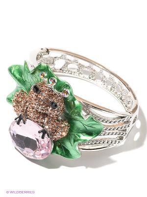 Браслет Migura. Цвет: серебристый, розовый, зеленый