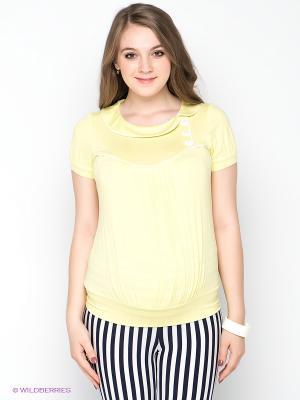 Блузка Gemko. Цвет: светло-желтый
