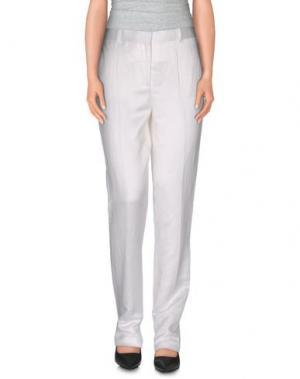 Повседневные брюки THE ROW. Цвет: белый