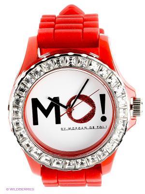 Часы Morgan. Цвет: красный, белый