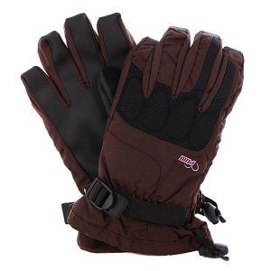Перчатки сноубордические женские  Ws Warner Glove Brown Pow. Цвет: черный,коричневый