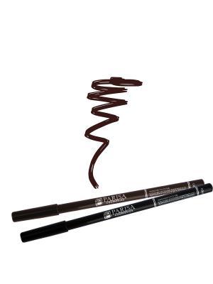 Набор деревянных косметических карандашей для глаз 2 штуки. Один черный плюс цвет 504 Коричневый Parisa. Цвет: коричневый