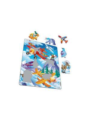 Пазл Самолеты LARSEN AS. Цвет: голубой, белый, желтый, зеленый, оранжевый, синий
