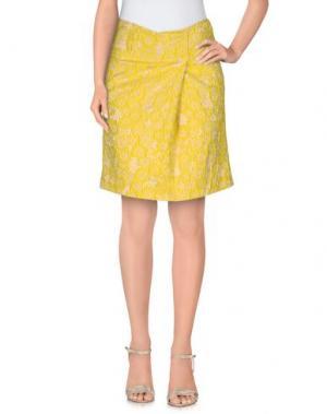 Мини-юбка PT0W. Цвет: желтый