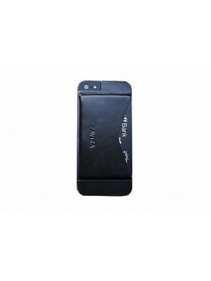 Кошелек-накладка для iPhone 5/5s/SE ZAVTRA. Цвет: черный
