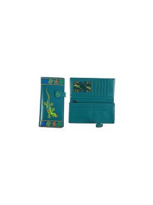 Портмоне женское Русские подарки. Цвет: темно-зеленый, темно-синий