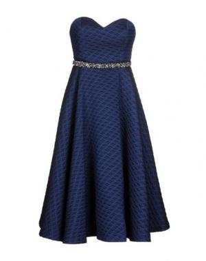 Платье до колена NORA BARTH. Цвет: ярко-синий