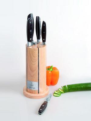 Набор ножей Рэдклифф Taller. Цвет: коричневый, светло-коричневый