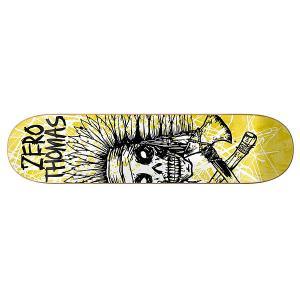 Дека для скейтборда  Thomas Dark Ages Impact Light 32.16 x 8.375 (21.3 см) Zero. Цвет: желтый,черный