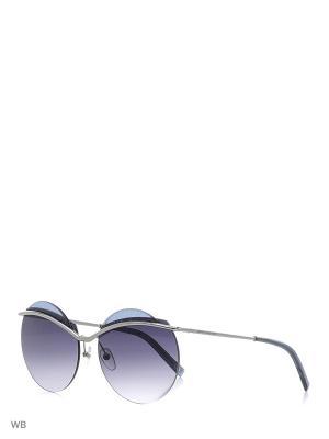 Солнцезащитные очки MARC JACOBS. Цвет: серебристый