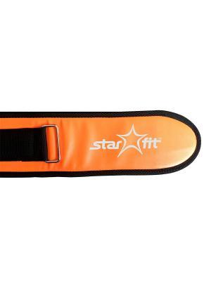 Пояс т/а STARFIT SU-301 текстиль. Цвет: оранжевый