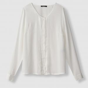 Блузка с длинными рукавами и плиссировкой, CELIANE SCHOOL RAG. Цвет: белый