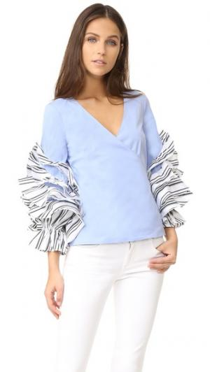 Блуза Athena Caroline Constas. Цвет: парижская лазурь