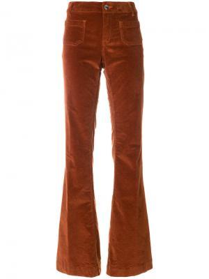 Расклешенные брюки The Seafarer. Цвет: жёлтый и оранжевый