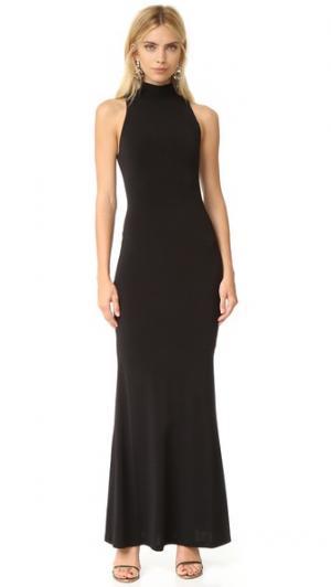 Макси-платье Erika с высокой горловиной alice + olivia. Цвет: голубой