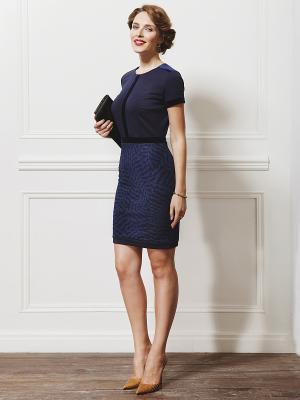 Платье La vida rica. Цвет: темно-синий