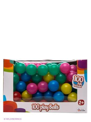 Набор пластиковых шариков в картонной коробке Five Stars. Цвет: синий, зеленый, желтый
